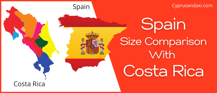 Is Spain bigger than Costa Rica