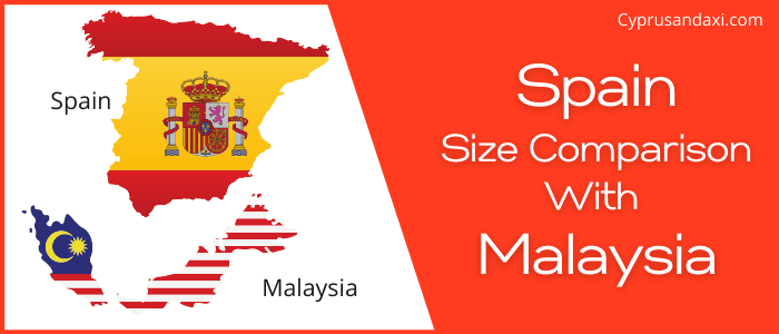Is Spain bigger than Malaysia