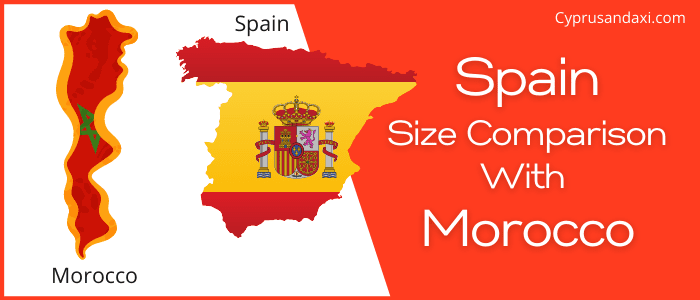 Is Spain bigger than Morocco