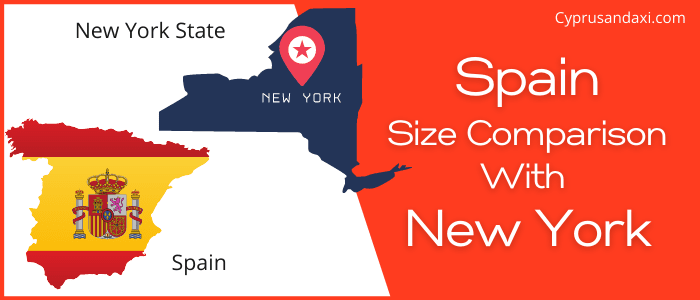 Is Spain bigger than New York State