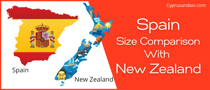 Is Spain bigger than New Zealand