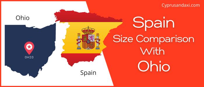 Is Spain bigger than Ohio