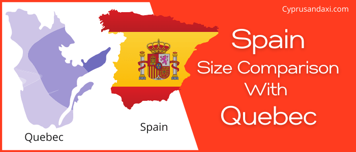 Is Spain bigger than Quebec
