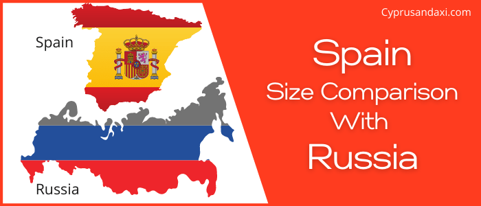 Is Spain bigger than Russia