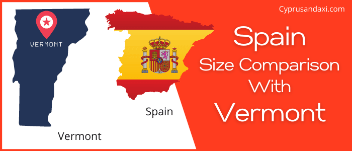 Is Spain bigger than Vermont