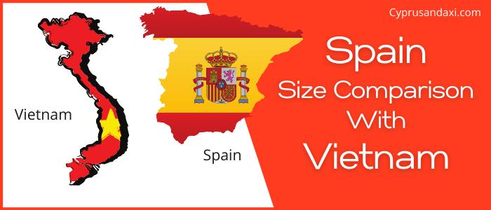 Is Spain bigger than Vietnam
