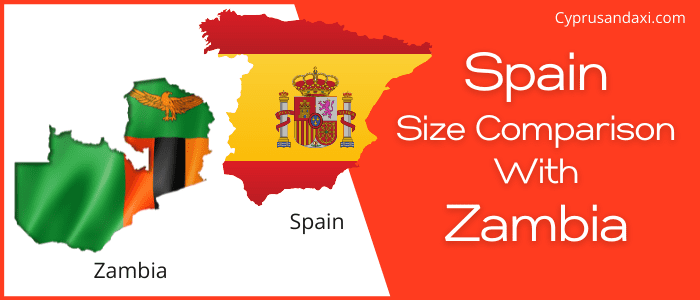 Is Spain bigger than Zambia