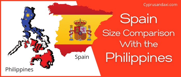 Is Spain bigger than the Philippines