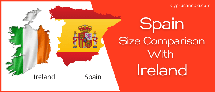 Is Spain bigger than the Republic of Ireland