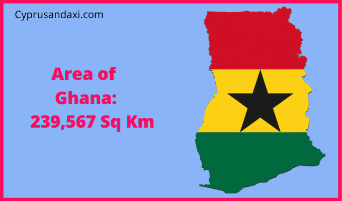 Area of Ghana compared to France